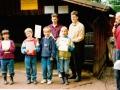 Siegerehrung für die jüngsten Teilnehmer der Vereinsmeisterschaft 1992