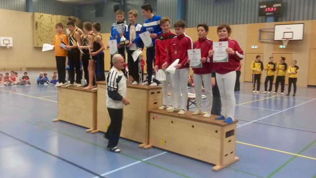 Kai Heisig, Aaron Schneiderwind, Johannes Jansen und Linus Droste