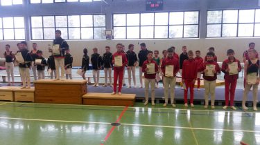 Siegerehrung der C-Jugend: Platz 4: Aaron Schneiderwind, Platz 5: Johannes Jansen, Platz 7: Kai Heisig